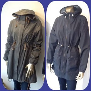 Chichi Boutique, UK, Camilla Mørch Raincoat Gothenburg Burnt Olive and Grebbestad Jet Black